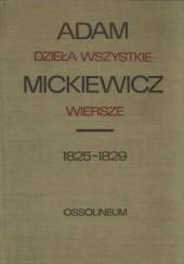 Okładka książki Dzieła wszystkie. Wiersze 1825-1829 Adam Mickiewicz