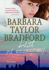 Okładka książki List od nieznajomej Barbara Taylor Bradford