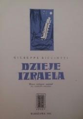 Okładka książki Dzieje Izraela Giuseppe Ricciotti