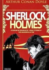 Okładka książki Sherlock Holmes. Tom 1. Studium w Szkarłacie. Znak Czterech. Pies Baskerville'ów Arthur Conan Doyle