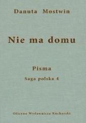 Okładka książki Nie ma domu Danuta Mostwin