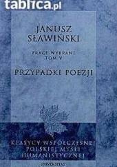 Okładka książki Przypadki poezji Janusz Sławiński