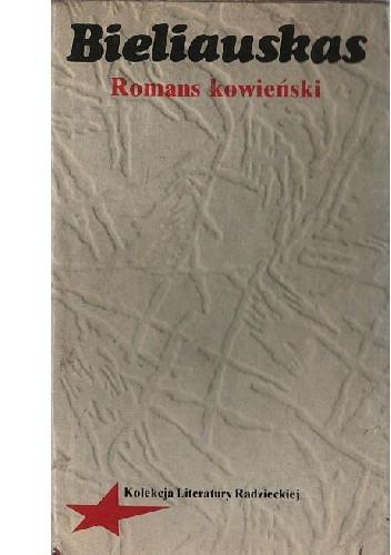Okładka książki Romans kowieński Alfonsas Bieliauskas