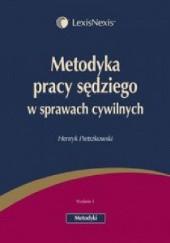 Okładka książki Metodyka pracy sędziego w sprawach cywilnych Henryk Pietrzkowski