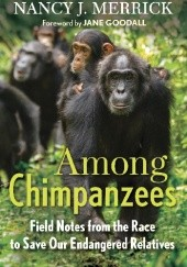 Okładka książki Among Chimpanzees. Field Notes from the Race to Save Our Endangered Relatives Jane Goodall,Nancy Merrick