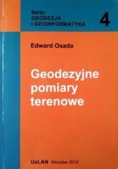 Okładka książki Geodezyjne pomiary terenowe Edward Osada