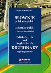 Okładka książki Słownik polsko-angielski i angielsko-polski z zakresu fotogrametrii Zdzisław Kurczyński