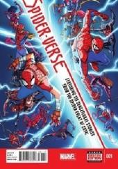Okładka książki Spider-Verse # 1 Dan Slott,Humberto Ramos,Katie Cook,Tom Grummett,Skottie Young,Ty Templeton,Jake Parker,Robbie Thompson,Denis Medri