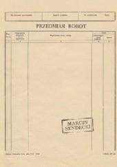 Okładka książki Przedmiar robót Marcin Sendecki