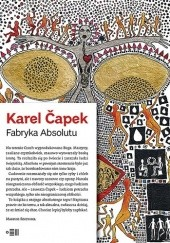 Okładka książki Fabryka Absolutu Karel Čapek