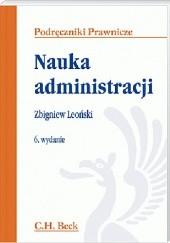 Okładka książki Nauka administracji Zbigniew Leoński