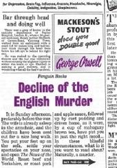 Okładka książki Decline of the English Murder George Orwell