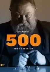 Okładka książki 500 zdań polskich Jerzy Bralczyk