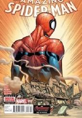 Okładka książki Amazing Spider-Man Vol 3 #18 - The Graveyard Shift, Part Three: Trade Secrets Christos Gage,Dan Slott,Humberto Ramos