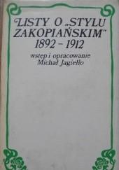 """Okładka książki Listy o """"stylu zakopiańskim"""" 1892-1912. Wokół Stanisława Witkiewicza Michał Jagiełło,Stanisław Witkiewicz"""