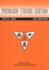 Okładka książki Psychologia - etologia - genetyka Włodzimierz Oniszczenko,Red. Psychologia Etologia Genetyka