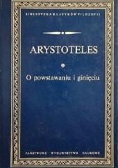 Okładka książki O powstawaniu i ginięciu Arystoteles
