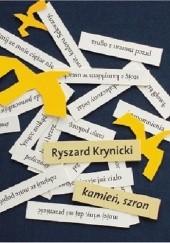 Okładka książki Kamień, szron Ryszard Krynicki