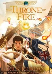 Okładka książki The Throne of Fire: The Graphic Novel Rick Riordan