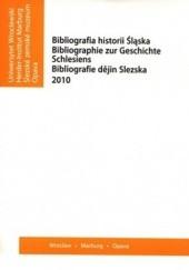 Okładka książki Bibliografia historii Śląska 2010 praca zbiorowa
