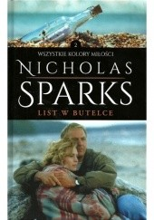 Okładka książki List w butelce Nicholas Sparks