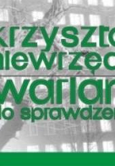 Okładka książki Wariant do sprawdzenia Krzysztof Niewrzęda