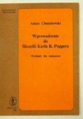 Okładka książki Wprowadzenie do filozofii Karla R. Poppera. Wykłady dla studentów Adam Chmielewski