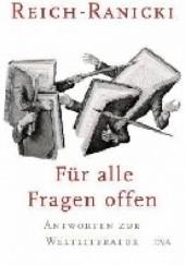 Okładka książki Für alle Fragen offen Marcel Reich-Ranicki