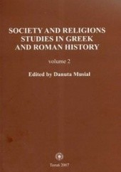Okładka książki Society and religions 2 Danuta Musiał