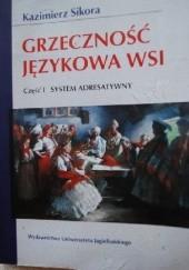 Okładka książki Grzeczność językowa wsi Kazimierz Sikora
