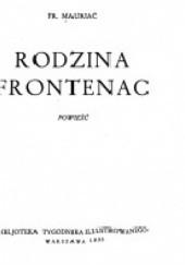 Okładka książki Rodzina Frontenac François Mauriac