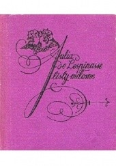 Okładka książki Julia de Lespinasse.Listy miłosne Tadeusz Boy-Żeleński