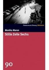 Okładka książki Stille Zeile Sechs Monika Maron