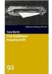 Okładka książki Eine blassblaue Frauenschrift Franz Werfel