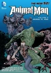 Okładka książki Animal Man 02: Animal vs. Man Steve Pugh,Jeff Lemire,Travel Foreman