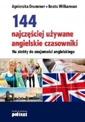 Okładka książki 144 najczęściej używane angielskie czasowniki Agnieszka Drummer,Beata Williamson