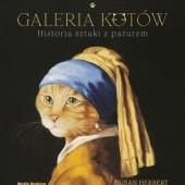 Okładka książki Galeria kotów. Historia sztuki z pazurem Susan Herbert