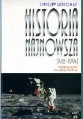 Okładka książki Historia najnowsza 1918-1994 Stanisław Sierpowski