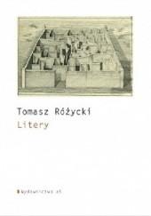 Okładka książki Litery Tomasz Różycki