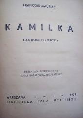 Okładka książki Kamilka François Mauriac