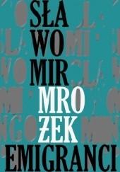 Okładka książki Emigranci Sławomir Mrożek