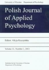 Okładka książki Polish Journal of Applied Psychology Volume 11 2/2013 Alicja Kuczyńska