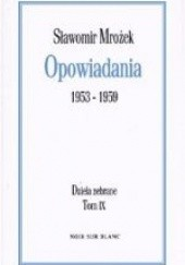 Okładka książki Opowiadania 1953-1959 Sławomir Mrożek