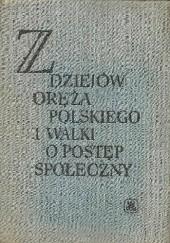 Okładka książki Z dziejów oręża polskiego i walki o postęp społeczny