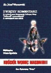 Okładka książki Kościół wobec masonerii. Zwięzły komentarz Józef Warszawski