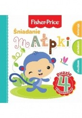 Okładka książki Śniadanie małpki. Fisher Price Puzzle