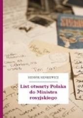 Okładka książki List otwarty Polaka do Ministra Rosyjskiego Henryk Sienkiewicz