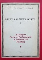 Okładka książki Studia o metaforze praca zbiorowa,Elżbieta Sarnowska-Temeriusz