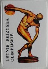 Okładka książki Letnie igrzyska olimpijskie tom I Jerzy Marchewka