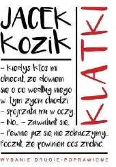 Okładka książki Klatki Jacek Kozik
